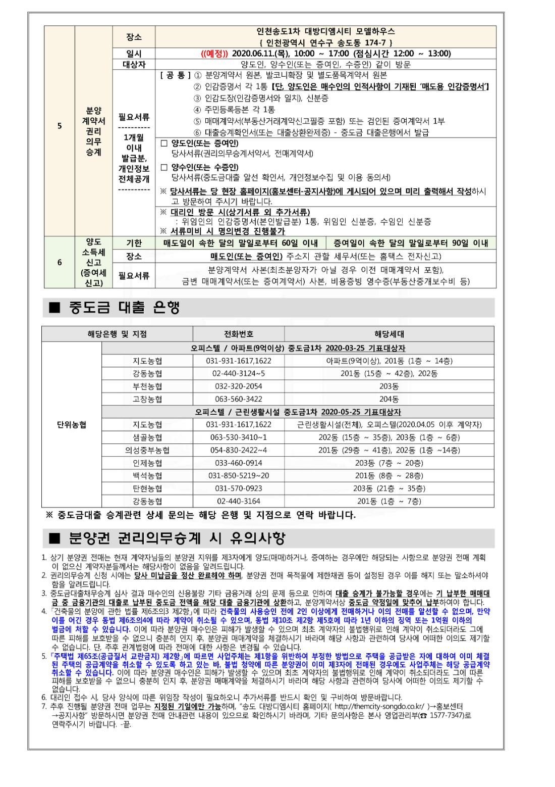 3. 송도 대방디엠시티 아파트(9억이상), 오피스텔, 상가 2020-06 전매안내문_2.jpg